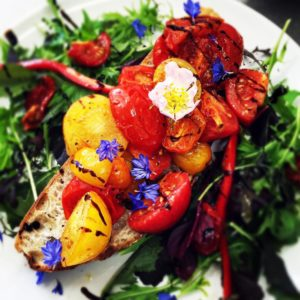 A vibrant summer salad from The Piano Café in Freshwater.